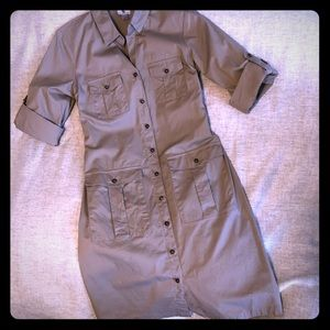 Worthington Khaki Shirt Dress Size 8